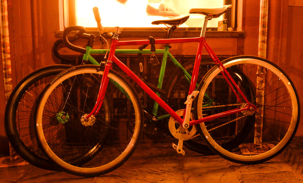ponte vecchio at sunset, beautiful florence, colorful bikes