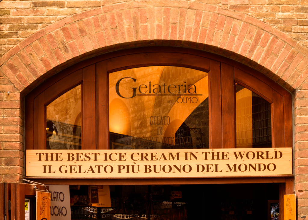 enchanting hilltop town of San Gimignano, The Best of Tuscany Tour, Walkabout Florence, best gelato