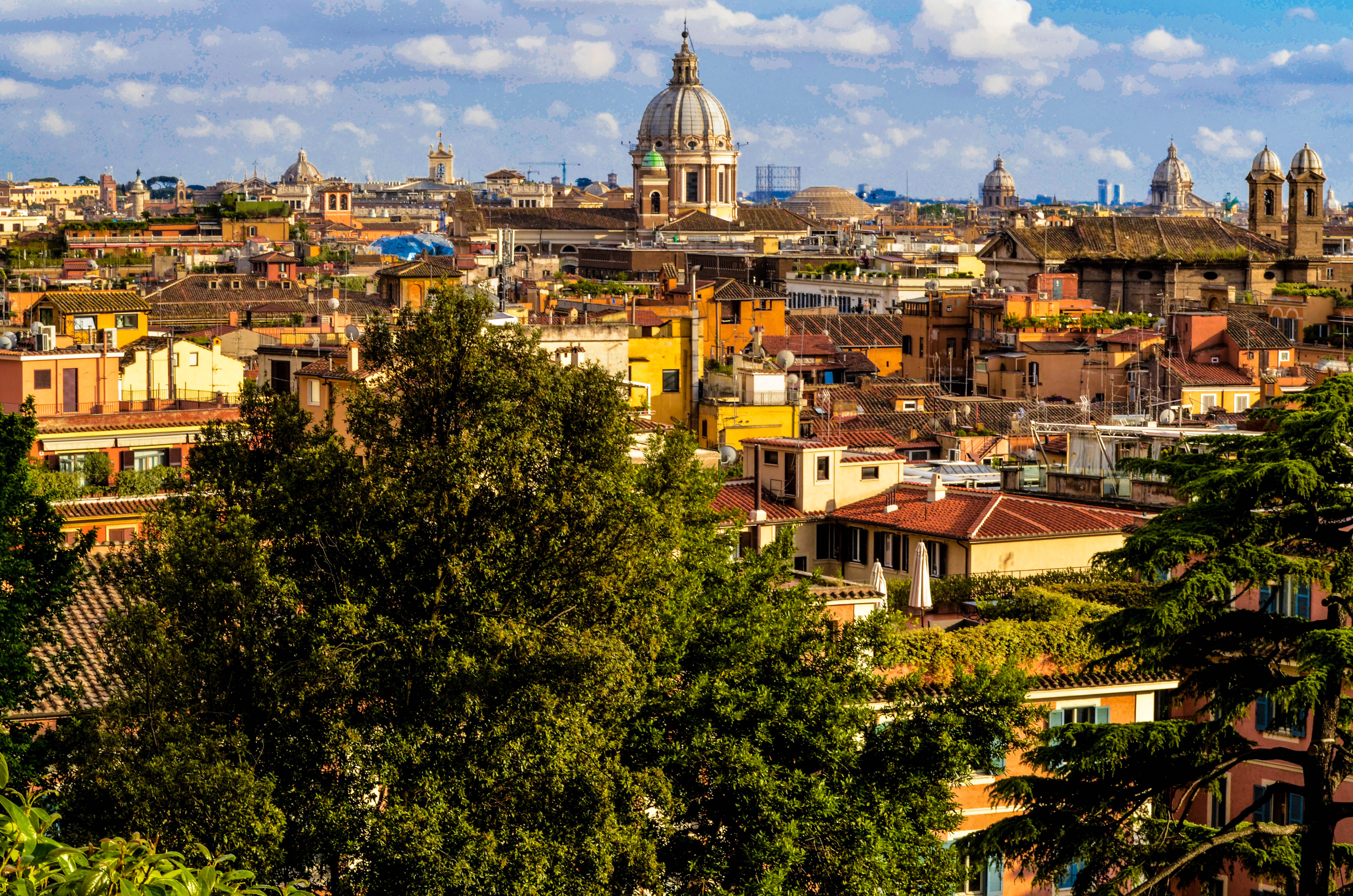 Wonderful view of Rome seen from Villa Borghese