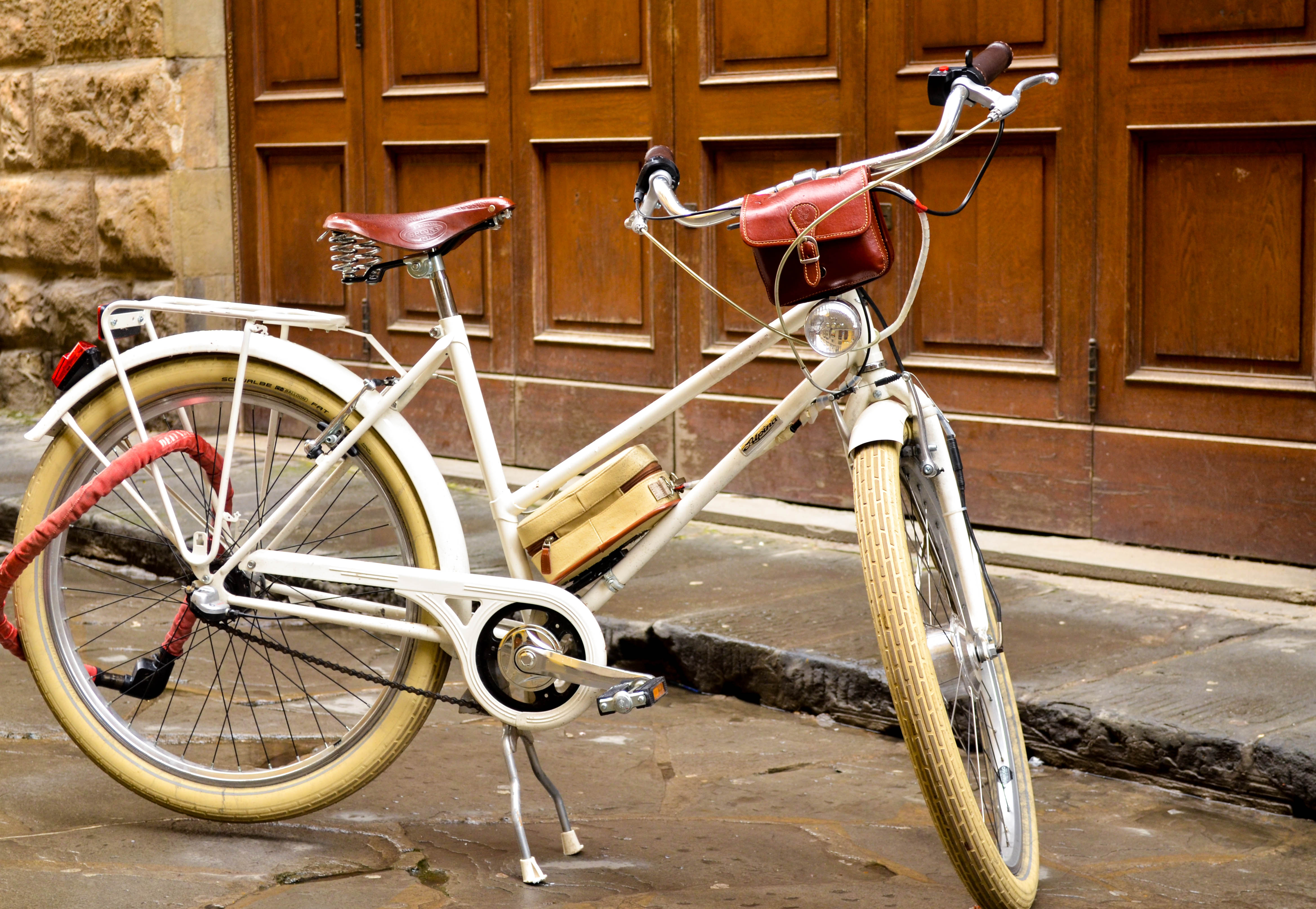 florence, italy,colorful bike, street photography