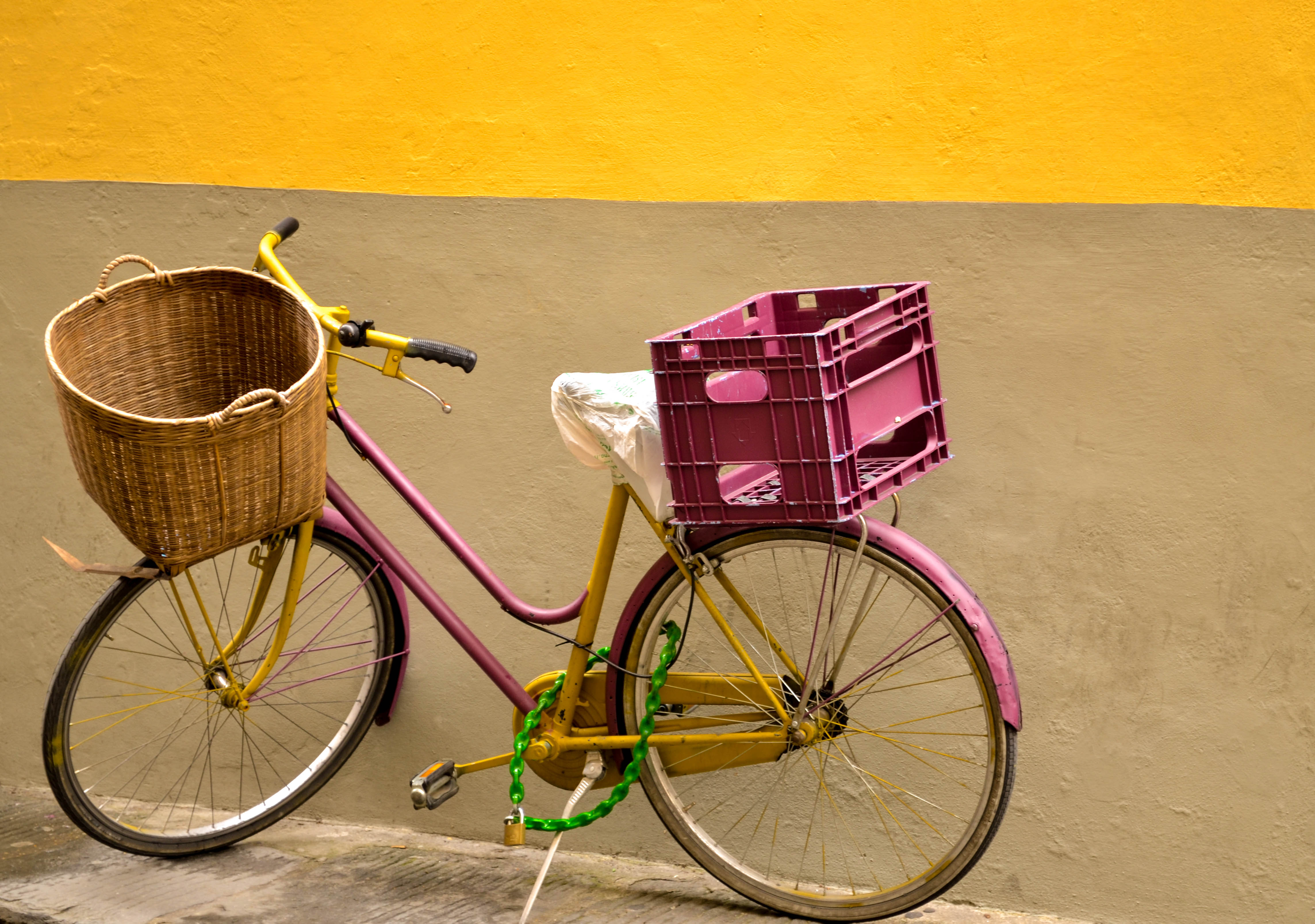 florence, italy, colorful bike, street photography
