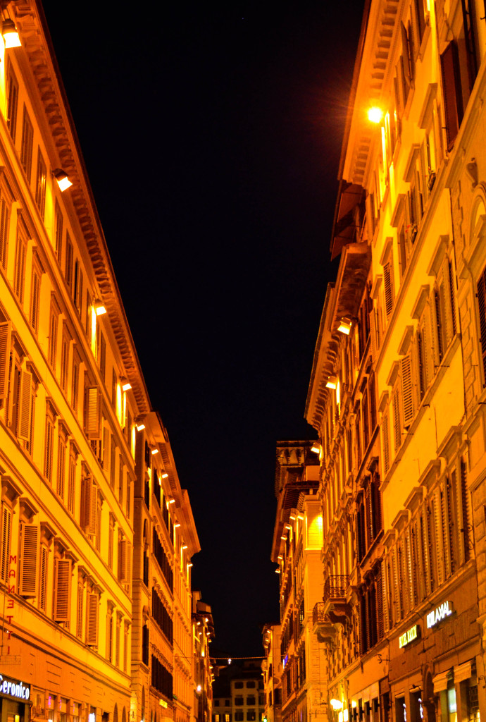 florence, italy, firenze at night, piazza del duomo