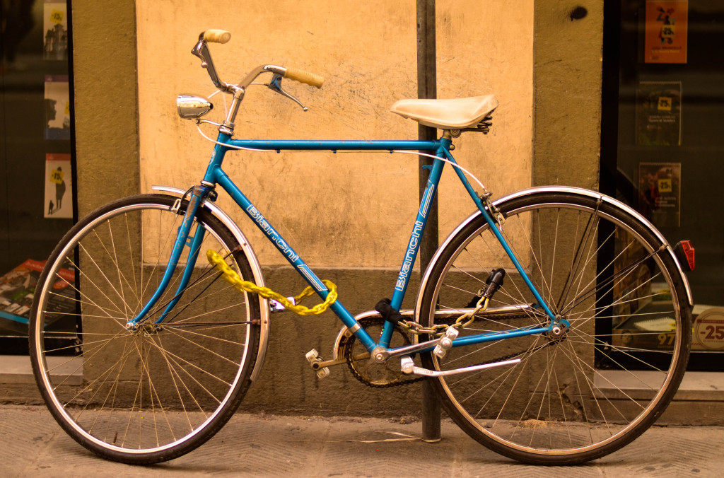 colorful bikes, florence, italy