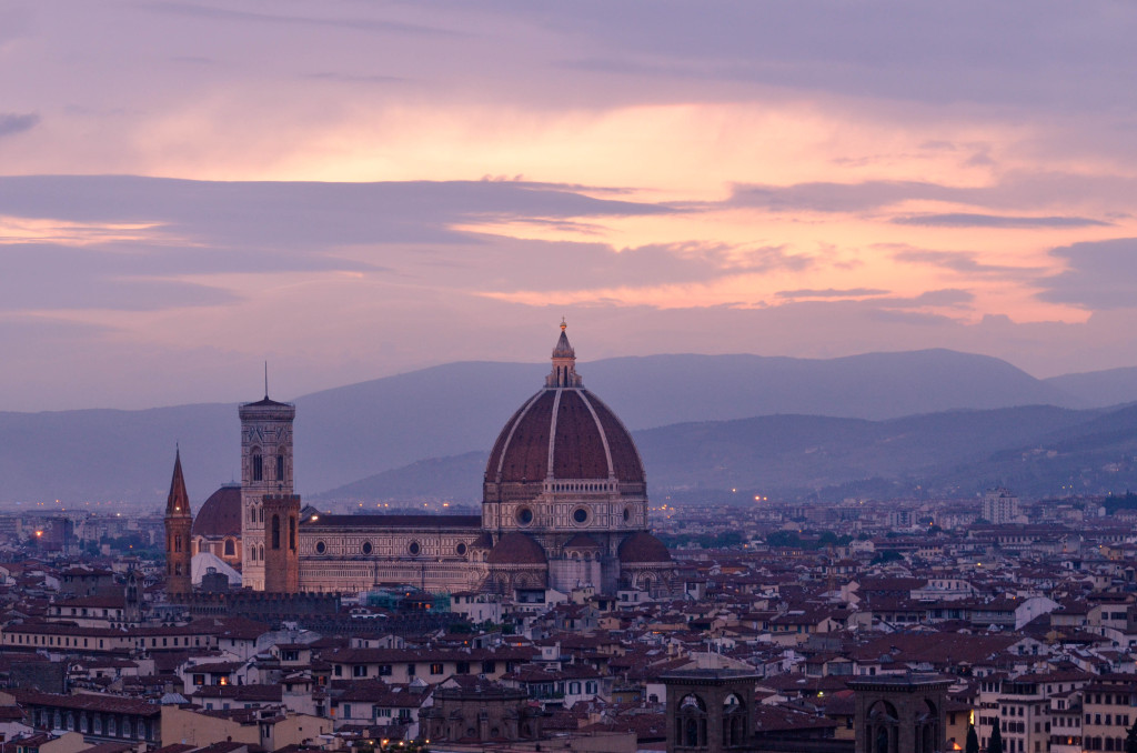 Piazzale Michelangelo, florence, beautiful sunset