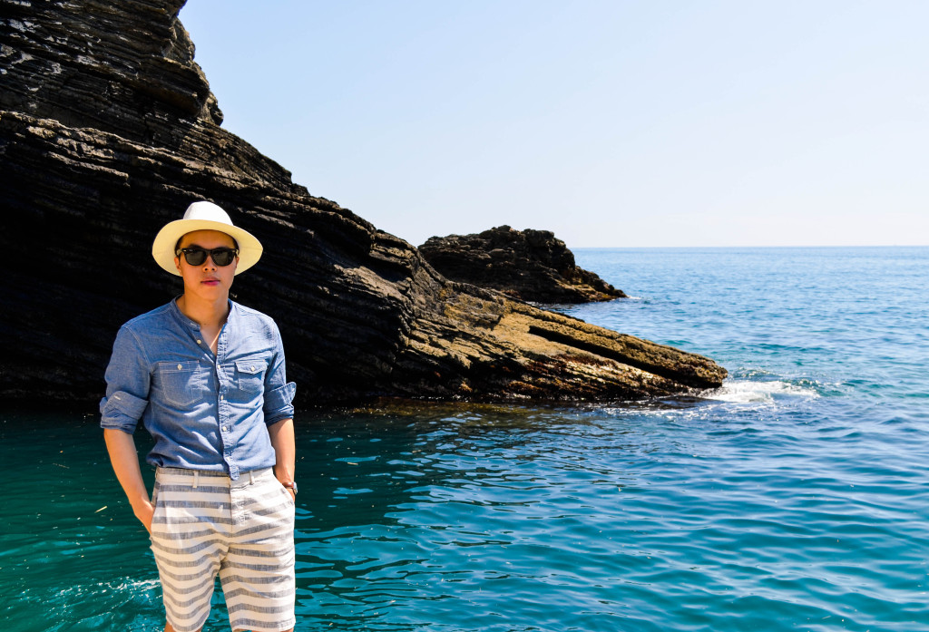 all saint chambray shirt, club monaco striped shorts, cinque terre, walkabout florence tour
