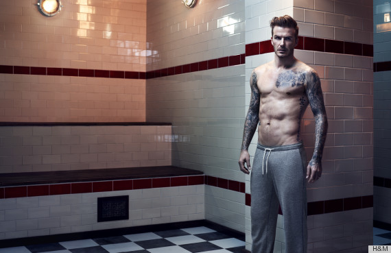 shirtless David Beckham in these brand new H&M Bodywear campaign images!