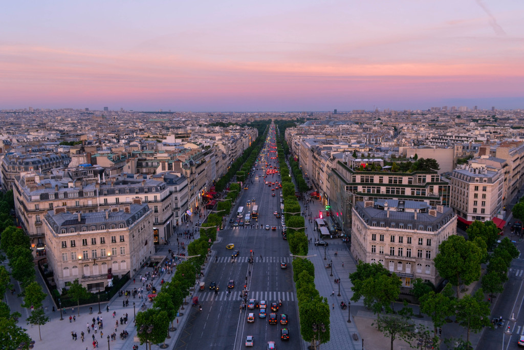 paris architectural layout, arc de triomphe sunset, paris, confused dasher, paris trip report, what to do in 5 days in paris